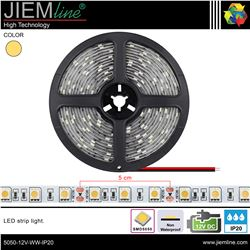 TIRA LED BLANCO CÁLIDO 12V DC IP20 - 5050-12V-WW-IP20