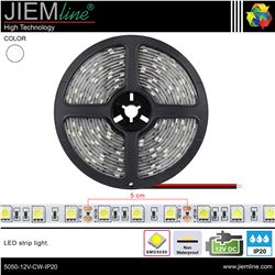 TIRA LED BLANCO FRÍO 12V DC IP20 - 5050-12V-CW-IP20