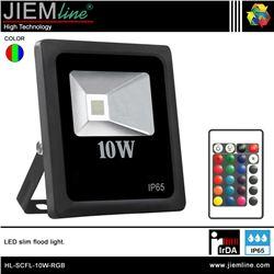 PROYECTOR SLIM LED RGB 10W IrDA - HL-SCFL-10W-RGB