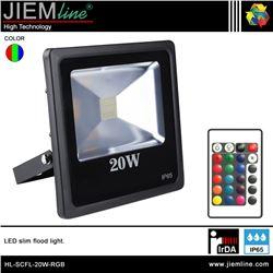 PROYECTOR SLIM LED RGB 20W IrDA - HL-SCFL-20W-RGB