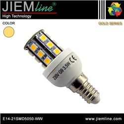 LÁMPARA LED E14 BLANCO CÁLIDO 4W - E14-21SMD5050-WW