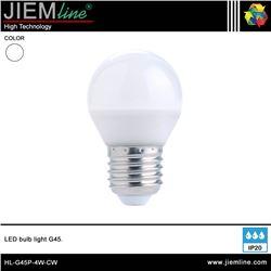 LÁMPARA LED E27 BLANCO FRÍO 4W - HL-G45P-4W-CW