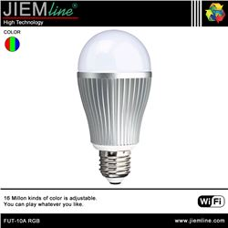 LÁMPARA LED E27 RGB 6W WIFI 2,4 Ghz - FUT-10A RGB