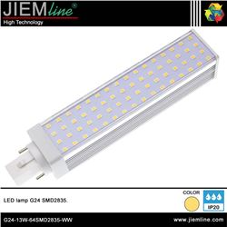 LÁMPARA LED G24 BLANCO CÁLIDO 13W - G24-13W-64SMD2835-WW