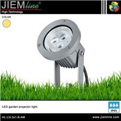 LUMINARIA LED JARDIN AMBAR 3W - HL-LG-3X1-B-AM
