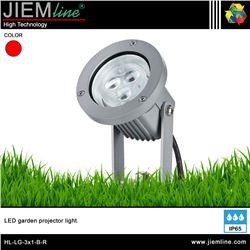 LUMINARIA LED JARDIN ROJO 3W - HL-LG-3X1-B-R