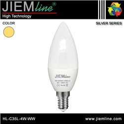 LÁMPARA LED E14 BLANCO CÁLIDO 4W - HL-C35L-4W-WW