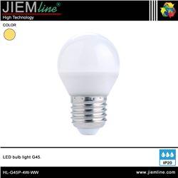 LÁMPARA LED E27 BLANCO CÁLIDO 4W - HL-G45P-4W-WW