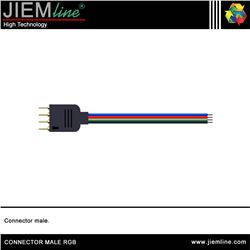 CABLE CONECTOR MALE TIRA RGB - CONNECTOR MALE RGB