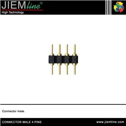 CONECTOR MALE 4 PIN TIRA LED FLEXIBLE - CONNECTOR MALE
