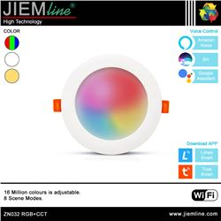 DOWNLIGHT LED RGB+CCT 8W WIFI 2,4 Ghz - ZN032-1