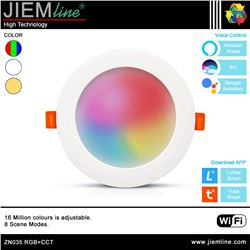 DOWNLIGHT LED RGB+CCT 14W WIFI 2,4 Ghz - ZN035-1