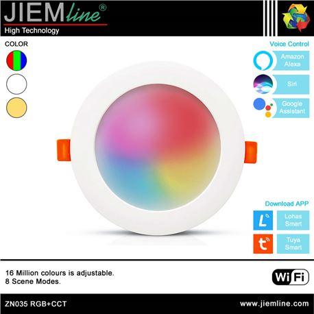 DOWNLIGHT LED RGB+CCT 14W WIFI 2,4 Ghz - ZN035-1