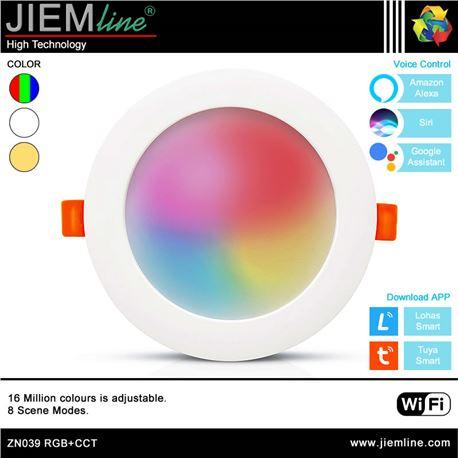 DOWNLIGHT LED RGB+CCT 20W WIFI 2,4 Ghz - ZN039-1