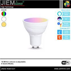 LÁMPARA LED GU10 RGB+CCT 5W WIFI 2,4 Ghz - ZN042-1