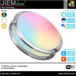 PLAFÓN LED TECHO RGB+CCT 15W WIFI 2,4 Ghz - ZN019CL12-1