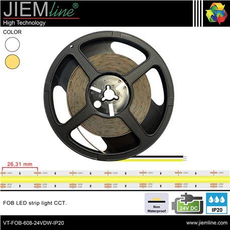 TIRA FOB LED CCT 24V DC IP20 - VT-FOB-576-24VDW-IP20