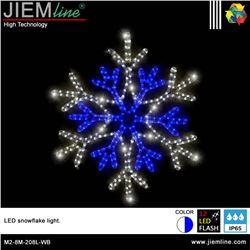 COPO NIEVE 2D LED WB 60X60 cm - M2-8M-208L-WB