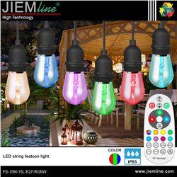 GUIRNALDA LED FESTOON RGB 15m / 15 Leds - FS-15M-15L-E27-RGB-1