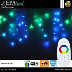 ICICLE LED RGB 3m / 100 Leds WIFI 2,4 Ghz - ICL-3M-100L-RGB-1