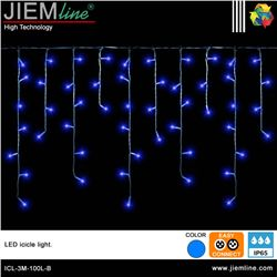 ICICLE LED AZUL 3m / 100 Leds - ICL-3M-100L-B