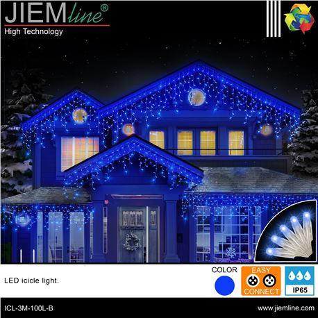 ICICLE LED AZUL 3m / 100 Leds - ICL-3M-100L-B