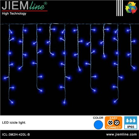 ICICLE LED AZUL 3m / 420 Leds - ICL-3M2H-420L-B