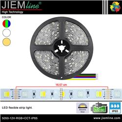 TIRA LED RGB+CCT 12V DC IP65 - 5050-12V-RGB+CCT-IP65
