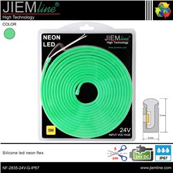 LED NEÓN FLEX VERDE 6x12 mm 12V DC IP67 - NF-2835-12V-G-IP67