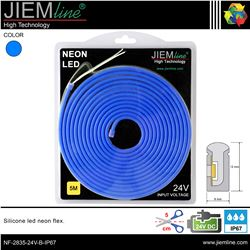 LED NEÓN FLEX AZUL 6x12 mm 12V DC IP67 - NF-2835-12V-B-IP67