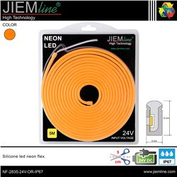 LED NEÓN FLEX NARANJA 6x12 mm 24V DC IP67 - NF-2835-24V-OR-IP67