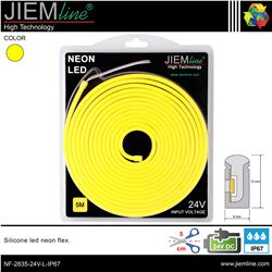 LED NEÓN FLEX LIMÓN 6x12 mm 24V DC IP67 - NF-2835-24V-L-IP67