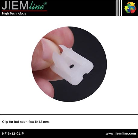 CLIP FIJACIÓN LED NEÓN FLEX 6x12 mm - NF-6X12-CLIP