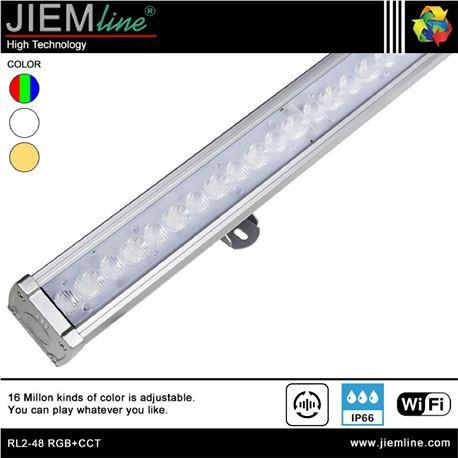BAÑADOR SLIM LED RGB+CCT 48W WIFI 2,4 Ghz - RL2-48 RGB+CCT-1