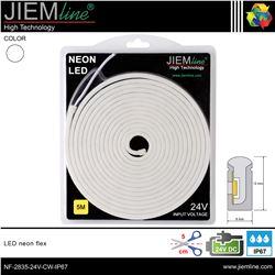 LED NEÓN FLEX BLANCO FRÍO 6x12 mm 24V DC IP67 - NF-2835-24V-CW-IP67