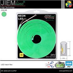 LED NEÓN FLEX VERDE 6x12 mm 24V DC IP67 - NF-2835-24V-G-IP67