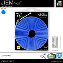 LED NEÓN FLEX AZUL 6x12 mm 24V DC IP67 - NF-2835-24V-B-IP67