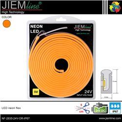 LED NEÓN FLEX NARANJA 6x12 mm 24V DC IP67 - NF-2835-24V-OR-IP67