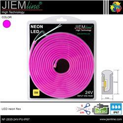 LED NEÓN FLEX PÚRPURA 6x12 mm 24V DC IP67 - NF-2835-24V-PU-IP67