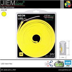 LED NEÓN FLEX LIMÓN 6x12 mm 24V DC IP67 - NF-2835-24V-L-IP67