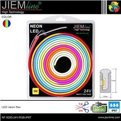 LED NEÓN FLEX RGB 6x13 mm 24V DC IP67 - NF-5050-24V-RGB-IP67