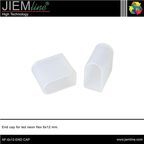 TAPÓN FINAL LED NEÓN FLEX 6x12 mm - NF-6X12-END CAP