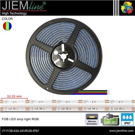 TIRA FOB LED RGB 24V DC IP67 - VT-FOB-882-24VRGB-IP67