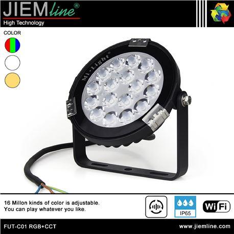 PROYECTOR SLIM LED RGB+CCT 9W WIFI 2,4 Ghz - FUT-C01 RGB+CCT-1